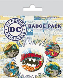 Batman Comic Capers  pack of 5 pin badges (py)